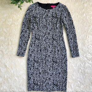 Betsey Johnson black white floral rose dress 4